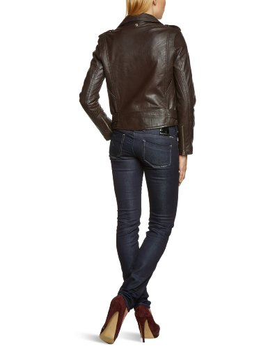 Schott NYC Damen Lederjacke LCW8600 Braun (Dark Brown)