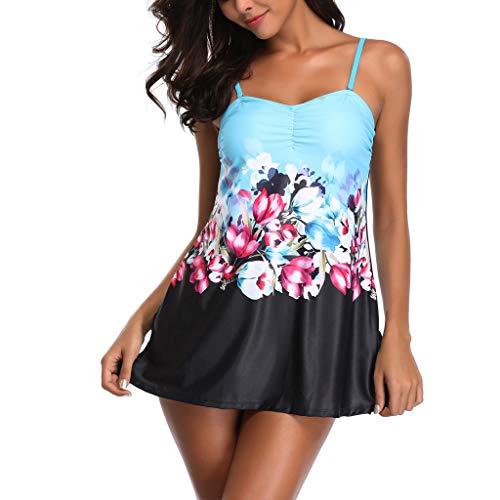 CICIYONER Damen Tankini Sets mit Body Shorts Frau Bikini Set Bademode Push-Up Gepolsterter BH S-5XL