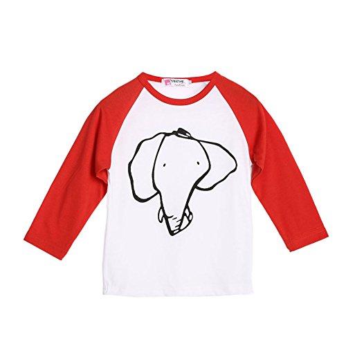 Vanpower Toddler Enfants bébé garçon Fille éléphant T-Shirt Manches Longues Tops Vêtements