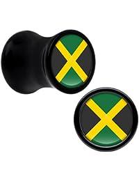 BodyCandy Acrílico Negro Jamaica Bandera Dilatación Ancho ...