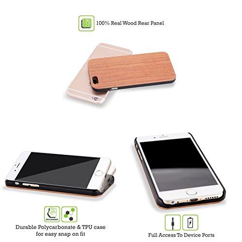 Head Case Designs Surf De Vague Surfeurs Étui Coque Rigide En Bois De Rose Pour Apple iPhone 5 / 5s / SE Silhouette D'homme