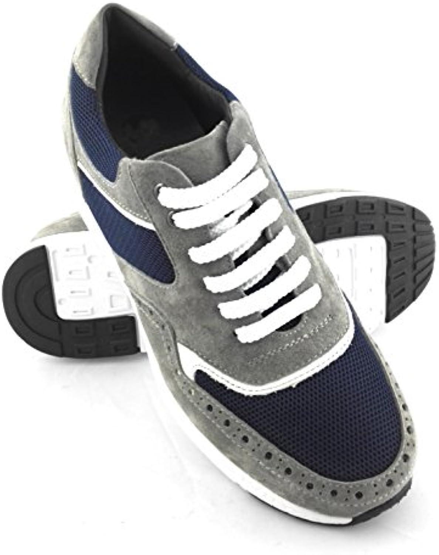 Zerimar Sport Schuhe für Männer Erhöhen auf undsichtbare weisse Ihre Körper Grösse: Höhe Steigerundg  Versteckter