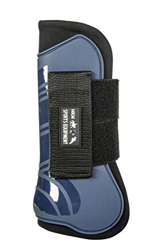 HKM 91996991.0643 Springgamaschen und Streichkappen, 4er Set, Genua, dunkelblau/schwarz