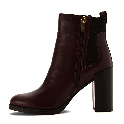 Tommy Hilfiger Britton Cuir Bottine Dark Red