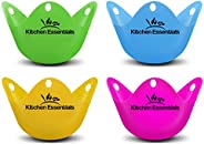 Kitchen Essentials Egg Poacher Cups (4 Pack) for Perfect Poached Eggs – Premium LFGB-Grade Silicone Egg Poache