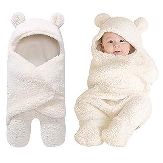 Yinuoday – Manta con capucha para bebé recién nacido, saco de dormir de forro polar para bebés y niñas