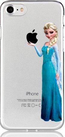 Handyhülle Olaf ELSA FROOZEN Disney kompatibel für Samsung Galaxy S7 Edge Princess hält Apfel Schutz Handy Hülle Case Bumper transparent M13