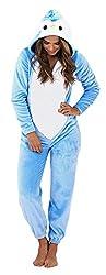 Lora Dora Womens 3D Penguin Onezee Hooded All In One Fleece Pyjamas Character Onezie Size UK 8-18 by Shoe Directory