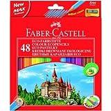 Faber Castell Farbstifte Castle 48er Etui mit Spitzer farbig sortiert