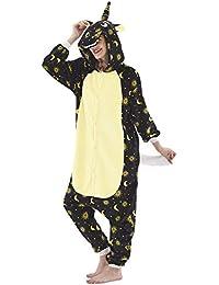 Dolamen Niños Unisexo Onesies Kigurumi Pijamas, Niña Traje Disfraz Animal Pyjamas, Ropa de Dormir Halloween Cosplay Navidad Animales de Vestuario