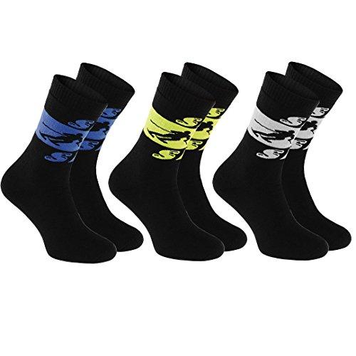3 paia di calzini frotte ski numeri 36-38 neri ideali per gli sport invernali: sci, snowboard, slitta, hockey, pattini da ghiaccio, i calzini caldo di cotone, protezione contro freddo prodotti in ue