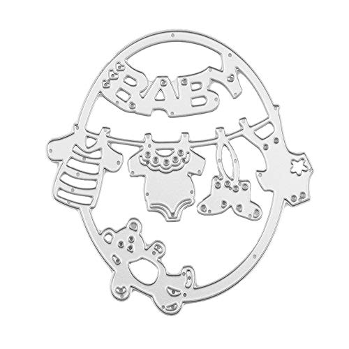 OIKAY Stanzschablone Prägeschablonen Embossing Machine Scrapbooking Schablonen Stanzformen auf Sizzix Big Shot/Cuttlebug/und andere Stanzmaschine anwenden 0130@003