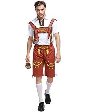 Schöneberger Trachten Herren Lederhose kurz Trachtenlederhose Oktoberfest