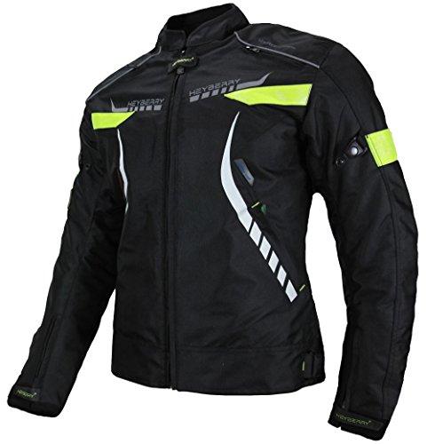 *Heyberry Damen Motorradjacke Textil Schwarz Neon Gr. XXL / 44*