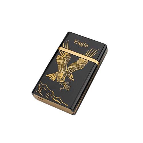 Qewmsg Tragbare Mode Dual Arc Elektronische USB Wiederaufladbare Winddicht Flammenlose Feuerzeug Mini Zigarre Zigarette Box Großes Geschenk