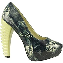 Too Fast Brand Pumps ANATOMY black bone 41