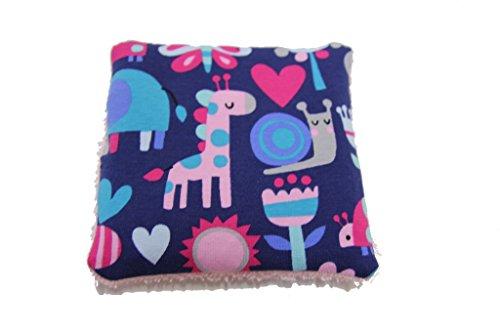 Produktbild Pinidi Baby Wärmekissen für Babys / Traubenkerne / ca. 15x15cm / Mädchenmotive auf rosa