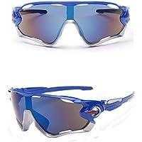 ASHOP Gafas de Bicicleta/Gafas de Montar, UV400 Lente Gafas de Sol Deportes al Aire Libre Gafas Gafas de Mountain Bike Riding (Azul)
