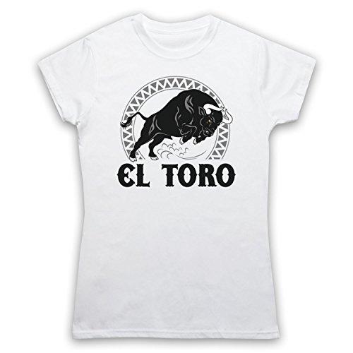 El Toro Spanish Bull Damen T-Shirt Weis