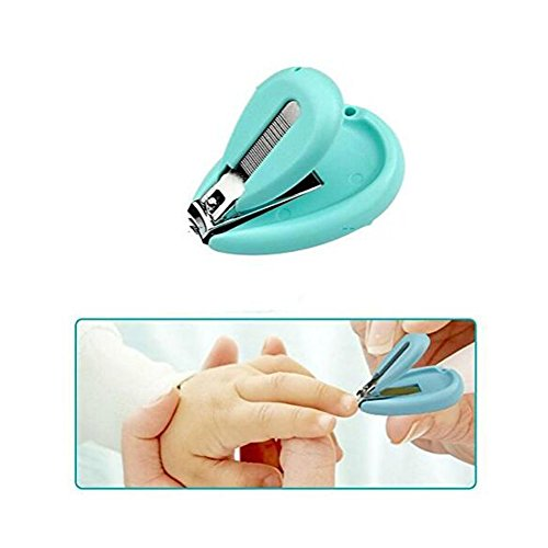 Baby Nagelschere, OYD 4 Stück Baby Nagelknipser Safety Grooming Kit Nagelpflege Maniküre Set mit Schere, Pinzette und Nagelfeile für Neugeborene, Babys und Kinder - 3