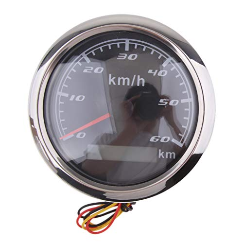 Homyl Auto Marine Boot GPS Tachometer Tacho Geschwindigkeitsmesser Digital Tachoanzeige, Bereich: 0-60 km/h - Schwarz Bereich Marine