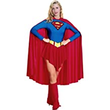 Rubbies - Disfraz de Superwoman para mujer, talla UK 12 - 14 (R15553-M)