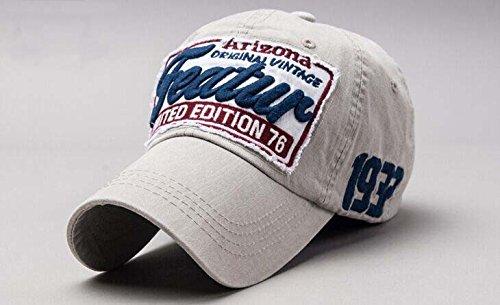 Elwow Fashion Retro atmungsaktiv Vintage Baumwolle Baseball Cap, Snapback Trucker Hat, Wandern Hat