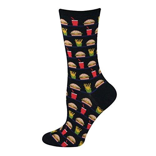 Hot Sox Women's Originals Hamburger Fries And Drink Trouser Socks
