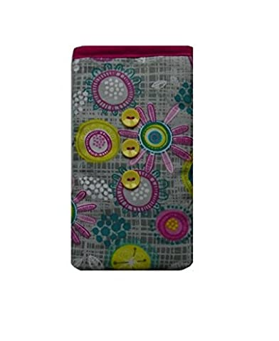 Multicoloured Retro Print Mobile Phone Sock Pouch for Samsung Galaxy Ace 4 Neo
