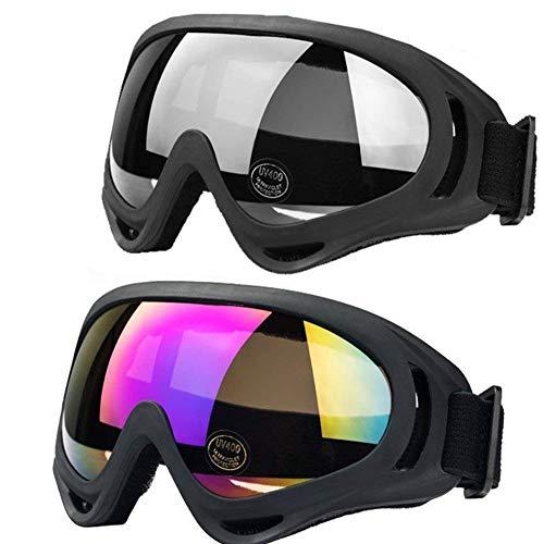 JTENG Motorrad Goggle Motocross Skibrille Sportbrille Wind Staubschutz Fliegerbrille Snowboardbrille Schneebrille Skibrille Wintersport Brille Dirtbike Off-Road -