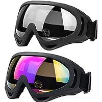 Gafas de esquí al aire libre JTENG Gafas de protección UV ajustable portable de la motocicleta de los anteojos Gafas a prueba de polvo Gafas protectoras de combate Jugar gafas protectoras Juegos