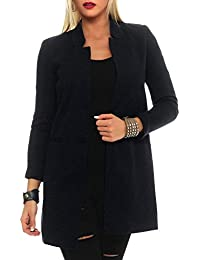 Vero Moda Damen Long Feinstrick Blazer June Longblazer Jacke