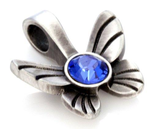 Bico Papillon Pendentif Cristal (MS10) - transformation personnelle, grâce et joie de vivre - Cristal De Swarovski Icône de Mode Bijoux Bleu