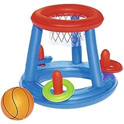 Panier de Basket flottant + ballon +cerceaux diamètre 61cm