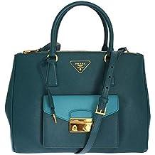 e17c49023538e Prada Saffiano Lux - BN2674 - Damen Tasche - Teal - Saffiano Leder -BxHxT (