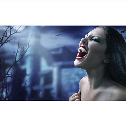 unkelheit Vampir Wandbild Benutzerdefinierte Wasserdichte Tapete Raumdekor Malerei Halloween Dekoration Flur,200×140cm ()