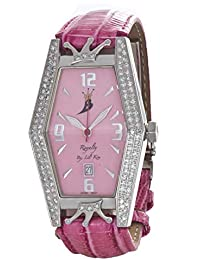 d5ce1a86b Aqua Master Royalty by Lil' Kim Women's Pink Leather Diamond Watch LK004D  0478