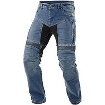 Impresión de moto hombres pantalones vaqueros, luz azul, tamaño 44EUlargo