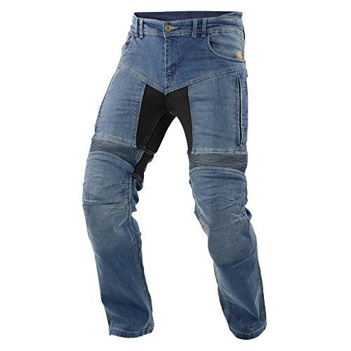 Trilobite Impresión de moto hombres pantalones vaqueros, luz azul, tamaño 44EUlargo
