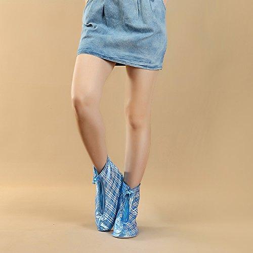 HHBO Rivestimento impermeabile riutilizzabile Custodie per scarpe da donna resistenti alle scivolature Blue