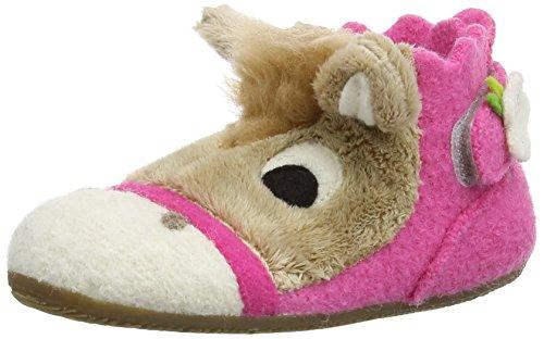 Living Kitzbühel Babyklettschuh Pferd, Chaussures souples bébé fille Multicolore - Multicolor (335 Azalee)