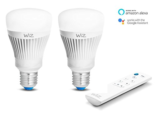 2-Pack bombillas LED WiZ inteligente con conexión WiFi
