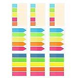 900 PCS Neon Page Marqueurs Colorés Index Onglets Drapeaux Notes Autocollantes Beetest®