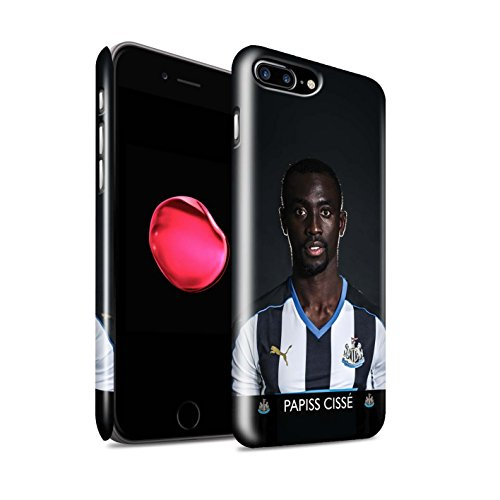 Officiel Newcastle United FC Coque / Clipser Brillant Etui pour Apple iPhone 7 Plus / Sissoko Design / NUFC Joueur Football 15/16 Collection Cissé