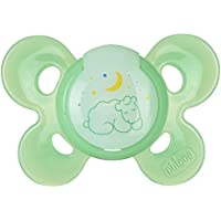 Chicco Physio Comfort Dummy for 4 Months and Over, Rubber, Pack of 1, Luminous - ukpricecomparsion.eu