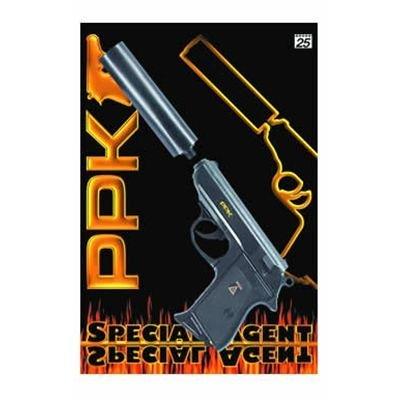 Schnellfeuerpistole mit Schalldämpfer (James Bond 007 Kostüme)