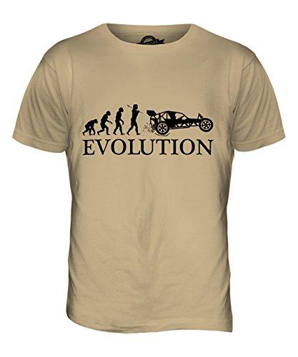 CandyMix Autograss Evolution Des Menschen Herren T Shirt Sand