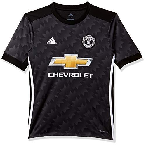 adidas MUFC A JSY Y Camiseta 2ª Equipación Manchester United FC, Niños, (Negro/Blanco/Granit), 128 (7/8 años)
