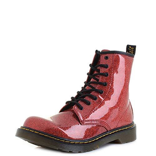 Dr. Martens Mädchen 1460 Glitter Y Kurzschaft Stiefel, Rot (Red Multi 635), 37 EU