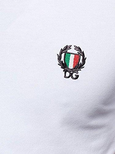 Dolce & Gabbana Underwear Herren T-Shirt Sport Crest Rundhals - Schwarz o. Weiß Weiß